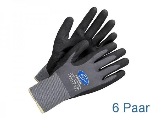Nitril Handschuhe - grau / schwarz - KORSAR® Kori-Nox Größe 9 / L - 6 Paar
