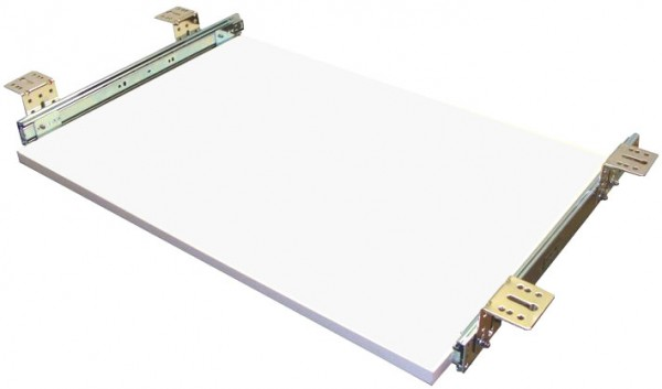 Tastaturauszug in Weiss 80 x 40 cm Nutzhöhe 77 mm - einfache Montage
