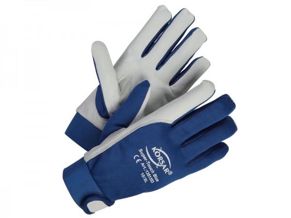 Mechaniker-Handschuhe Leder - KORSAR® Super-Touch Größe 10 / XL - 1 Paar