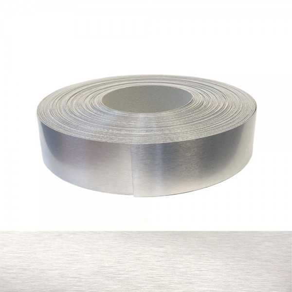 Umleimer, Kantenumleimer - Echt Aluminium gebürstet, ABS - 42 mm x 5 m