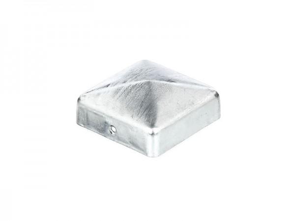 Pfostenkappe flach 70 x 70 mm, verzinkt - inkl. 2 Schrauben