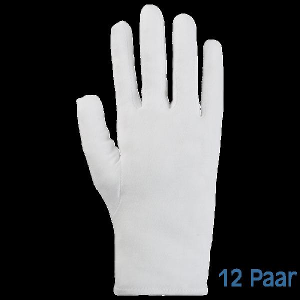 Baumwollhandschuhe weiß, OEKO-TEX® - Größe 10 extrafein - 12 Paar