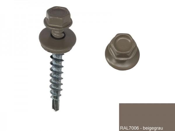Fassadenschrauben 4,8 x 35 mm, RAL 7006 beigegrau - 100 Stück