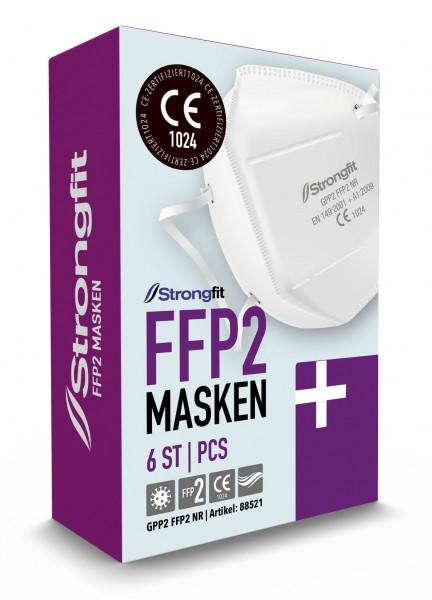 FFP2 Masken, Made in EU, einzeln verpackt, Box mit 6 Stück