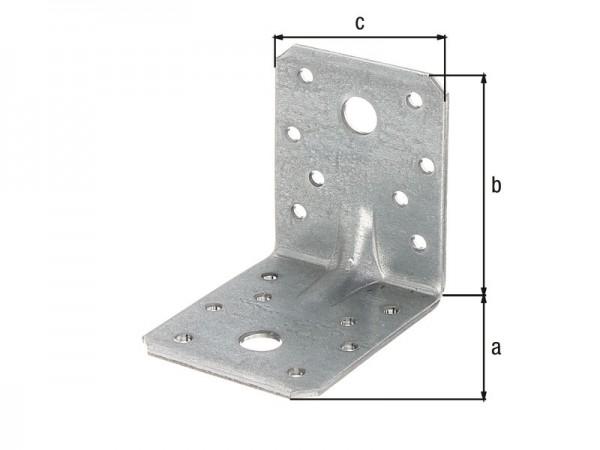 Schwerlast-Winkel 70 x 70 x 55 x 2,5 mm - Sicke - 10 Stück