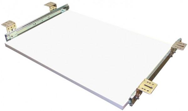Tastaturauszug in Weiss 80 x 40 cm Nutzhöhe 57 mm - einfache Montage