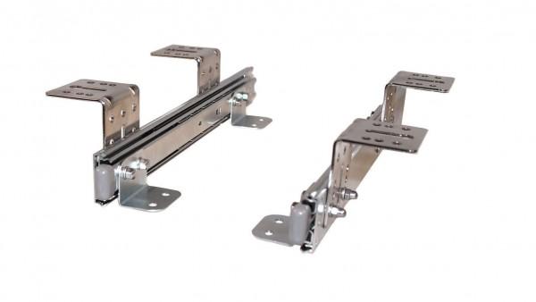 Teleskopschienen 300 mm Nutzhöhe 57 mm für Tastaturauszug zur Untertischmontage