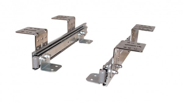 Teleskopschienen 300 mm Nutzhöhe 47 mm für Tastaturauszug zur Untertischmontage