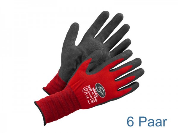 Handschuhe Nitril - rot / schwarz - KORSAR® Kori-Red Größe 9 / L - 6 Paar