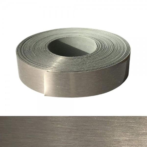 Umleimer, Kantenumleimer - Echt Edelstahl gebürstet, ABS - 42 mm x 1 m