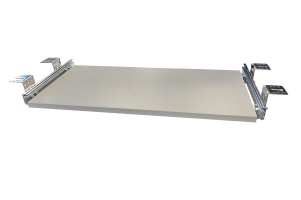 Tastaturauszug in Alu grau Optik 80 x 40 cm Nutzhöhe 47 mm - Eigene Herstellung