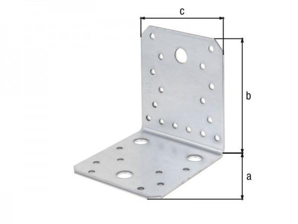 Stahlwinkel verzinkt 105 x 105 x 90 x 3 mm - glatt - 25 Stück