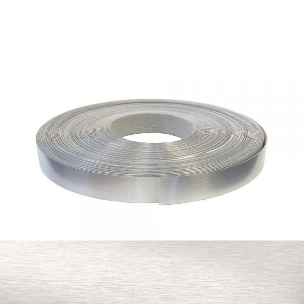 Umleimer, Kantenumleimer - Echt Aluminium gebürstet, ABS - 22 mm x 2 m