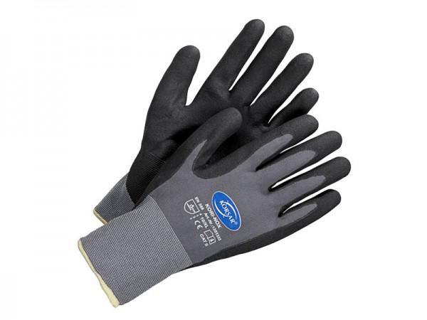Nitril Handschuhe - grau / schwarz - KORSAR® Kori-Nox Größe 9 / L - 1 Paar