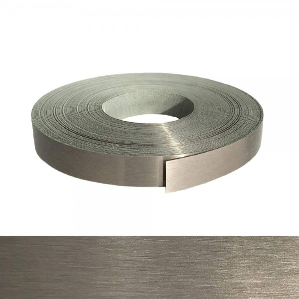 Umleimer, Kantenumleimer - Echt Edelstahl gebürstet, ABS - 22 mm x 2 m