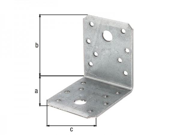 Stahlwinkel verzinkt 70 x 70 x 55 x 2,5 mm - glatt - 50 Stück
