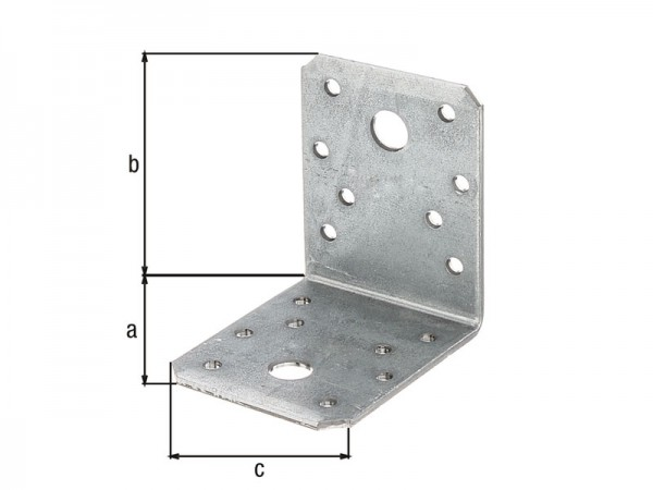 Stahlwinkel verzinkt 70 x 70 x 55 x 2,5 mm - glatt - 10 Stück