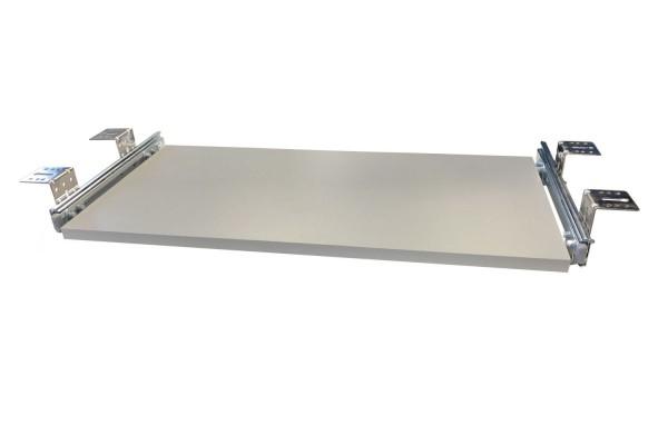 Tastaturauszug in Alu grau Optik 60 x 40 cm Nutzhöhe 77 mm - Eigene Herstellung