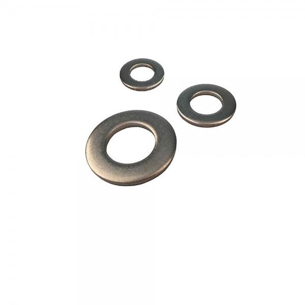 Unterlegscheiben DIN 125 M10 x 20 mm Edelstahl - 200 Stück